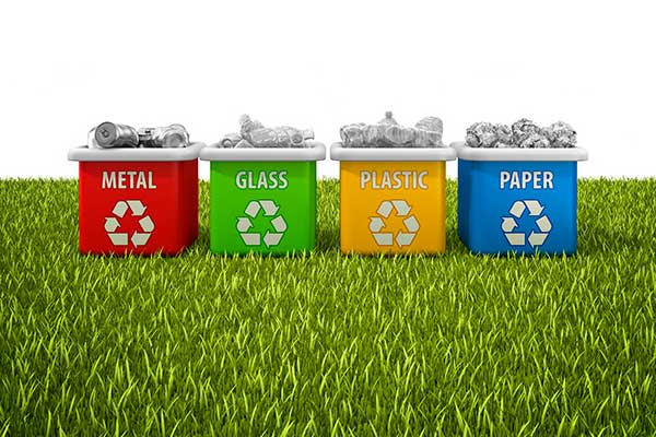 Green Eco-Friendly Event Planning - Recycle Bins
