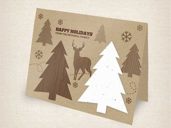 e-holiday Green Eco | Holiday Card