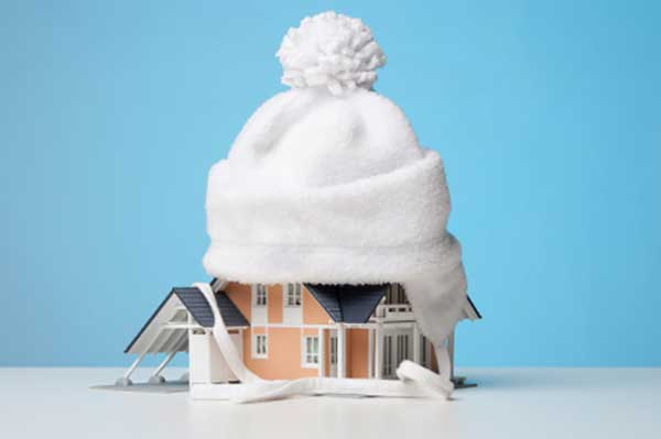 Eco-Friendly, Winter Home Insulation Illustration