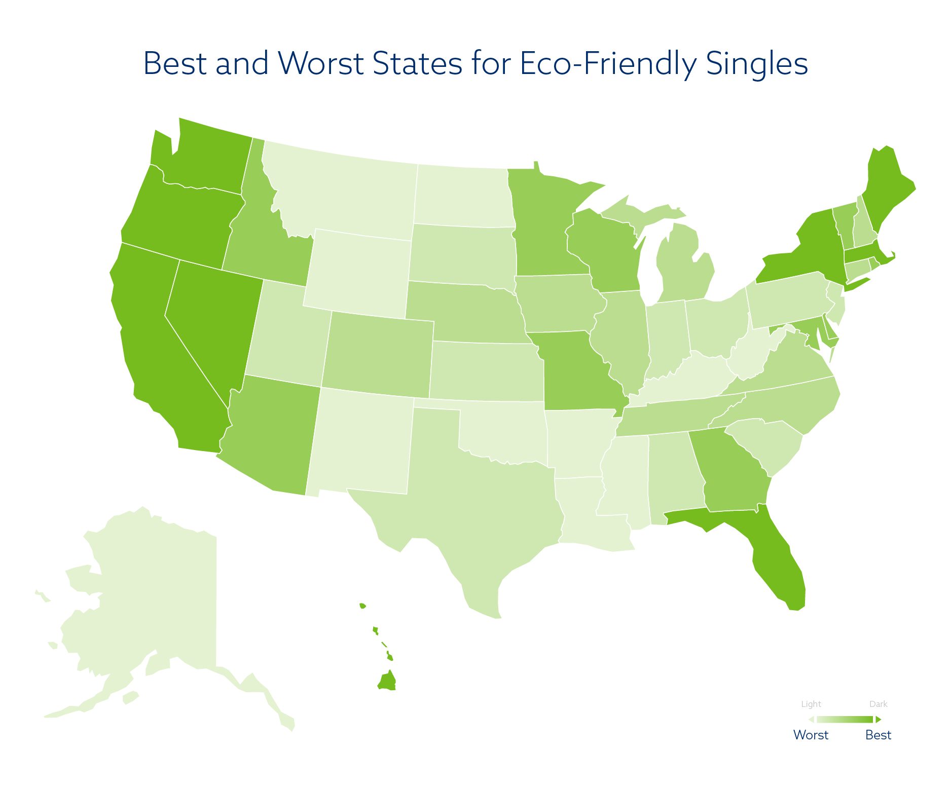 best states for green singles and eco-friendly dating