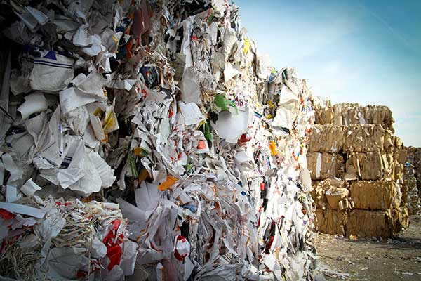 Recycling Cardboard   Benefits Bundles of Cardboard