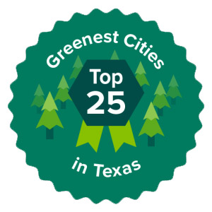 Greenest Cities in Texas badge