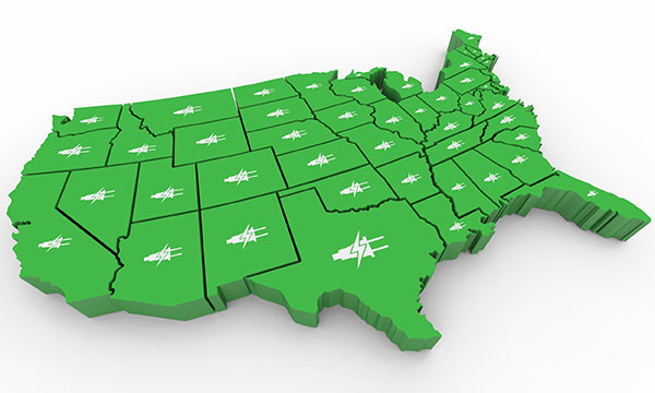 Deregulated Energy Markets | United States - Western States illustration
