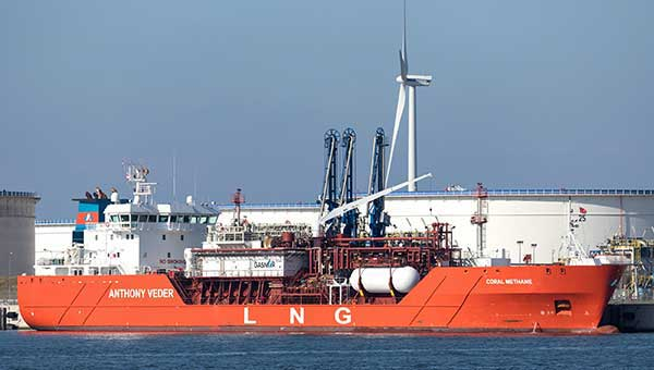 Liquefied Natural Gas (LNG) - image of ship transporting