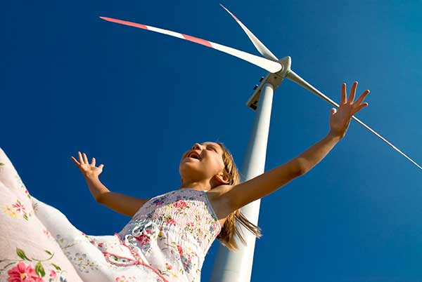 Deregulated Market Area | Child in front of Windmill