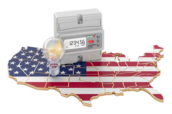 Deregulated States for Energy Markets - USA Jigsaw puzzle