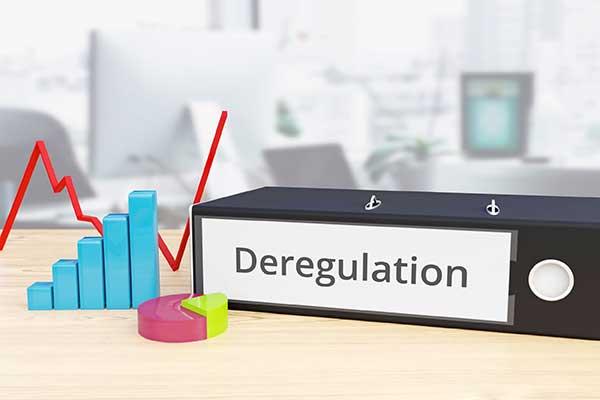 Deregulation Meaning Illustration