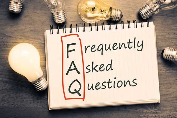 Frequently Asked Questions About Light Bulbs Illustration