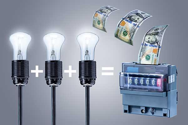 Kilowatt-Hour of Electrical Energy Costs illustration