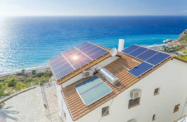 Kilowatt-Peak kwp | Solar energy on roof image