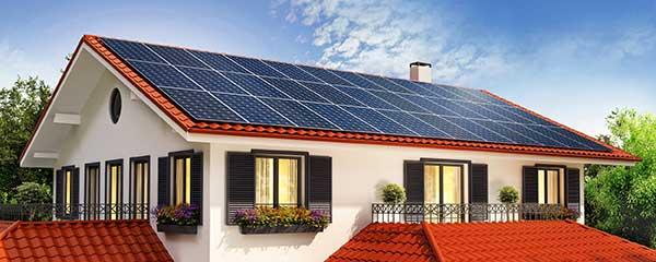 Solar Energy Powering Top of House