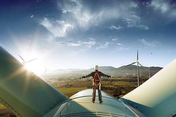 Wind Power Electricity - Windmills producing Energy