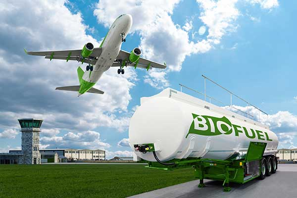 Biofuel Recovery | Airplane Flying over Fuel Tank