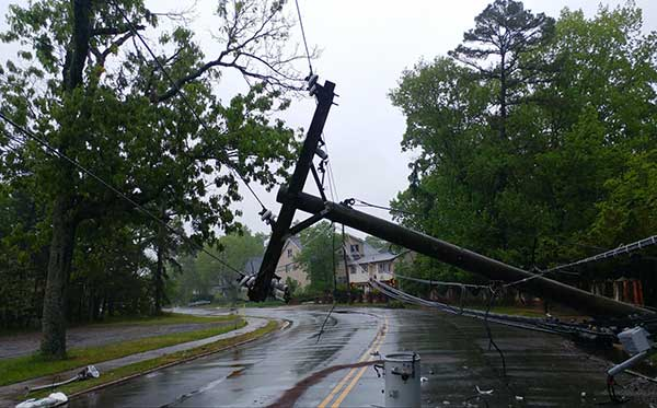 Power Outages | Image of Fallen Powerlines