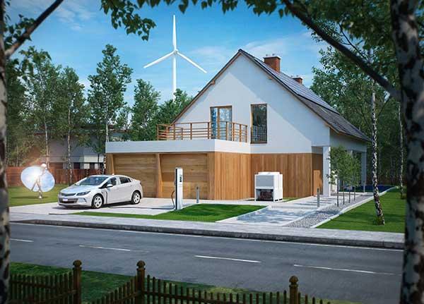 Renewable Energy Sources Options | Image of House using Energy