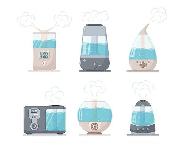 Humidifier Types Illustration