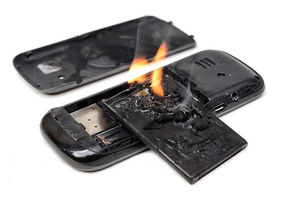 Battery Problems | Image of iPhone on Fire
